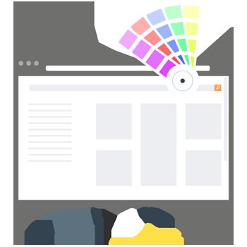 Graphic design services for websites